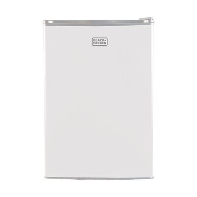 2.5 cu. ft. Compact Refrigerator with Freezer Color: White