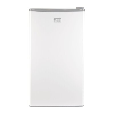 3.2 cu. ft. Compact Refrigerator with Freezer Color: White