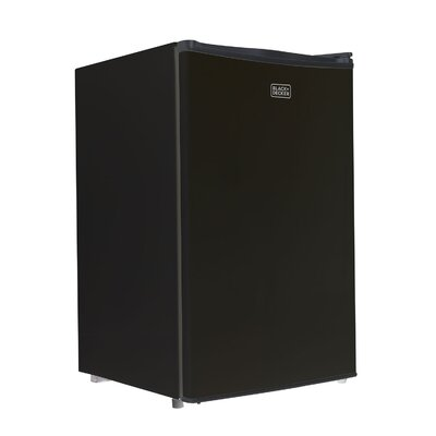 4.3 cu. ft. Compact Refrigerator with Freezer Color: Black