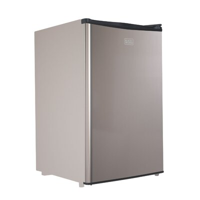 4.3 cu. ft. Compact Refrigerator with Freezer Color: Silver