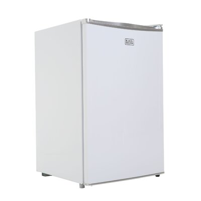 4.3 cu. ft. Compact Refrigerator with Freezer Color: White
