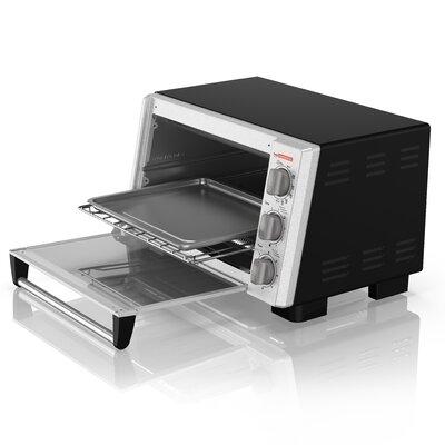 6-Slice Stainless Steel Countertop Toaster Oven