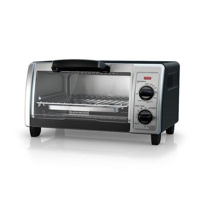 4-Slice Stainless Steel Toaster Oven Finish: Black