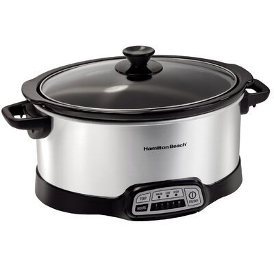 7 Qt. Programmable Slow Cooker Size: 7 Qt., Color: Stainless Steel