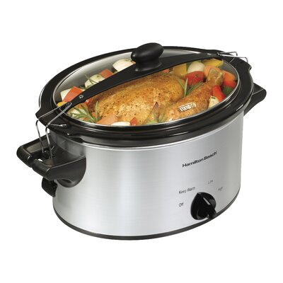'Stay or Go' Slow Cooker Finish: Silver, Size: 6-Quart