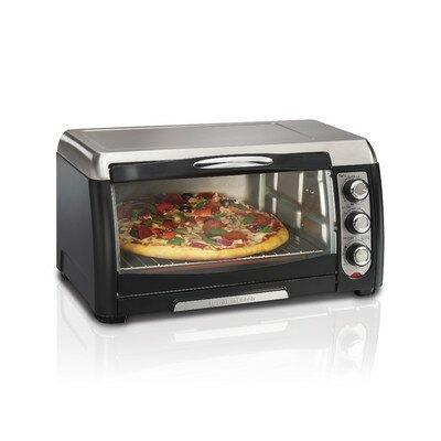 6 Slice Toaster Oven Color: Black