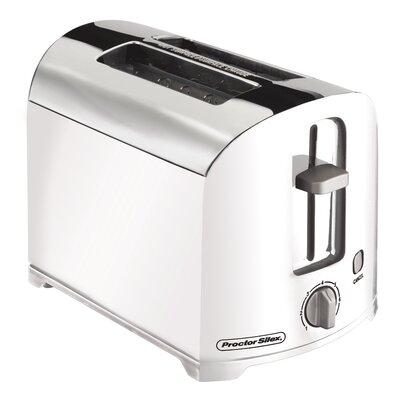 2-Slice Proctor Silex Toaster Color: White