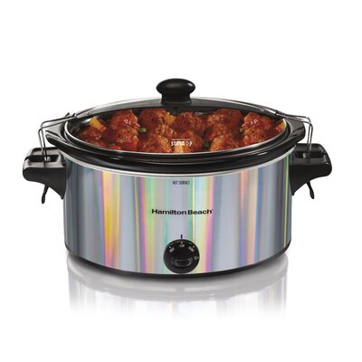 5 Qt. Stay or Go Shimmer Slow Cooker Color: Silver