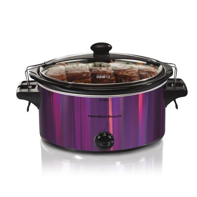 5 Qt. Stay or Go Shimmer Slow Cooker Color: Purple
