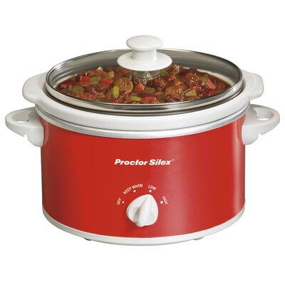 1.5 Quart Slow Cooker Color: Red