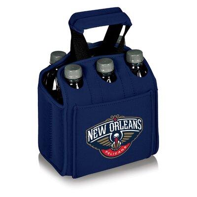 6 Can NBA Picnic Cooler Color: Navy, NBA Team: New Orleans Pelicans