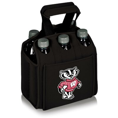 NCAA Beverage Buddy Picnic Cooler NCAA Team: Wisconsin, Color: Black