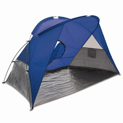 Auriville Cove Portable Sun / Wind Shelter Color: Blue/Gray/Silver