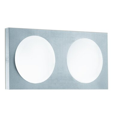 Lucente Domino 2 Light Flush Wall Light