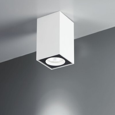Lucente Cu-Bic 1 Light Flush Ceiling Light
