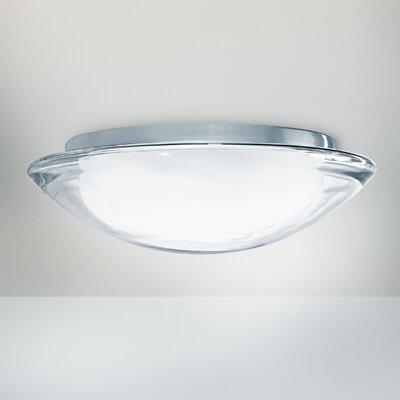 Lucente Boreale Oyster 1 Light Flush Ceiling Light
