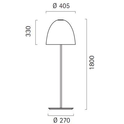 Lucente Deco' 180cm Floor Lamp