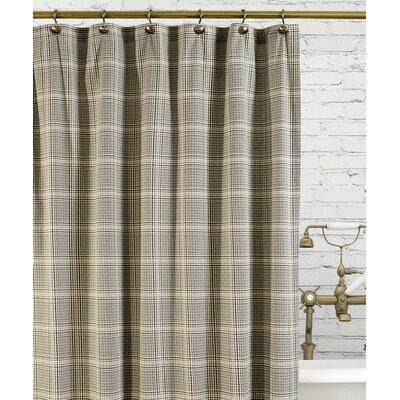 Morrison Cotton Plaid Shower Curtain Color: Black