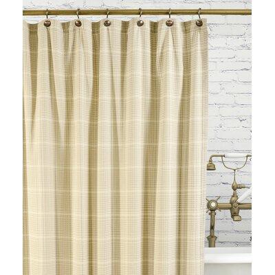 Morrison Cotton Plaid Shower Curtain Color: Natural