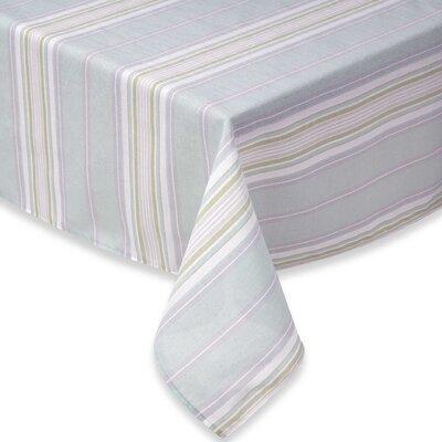 "French Perles Stripe Tablecloth Size: 84"" W x 60"" L"