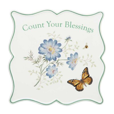 Lenox Butterfly Meadow Sentiment Trivet Bless