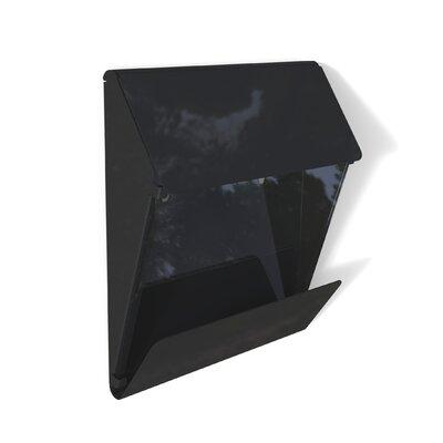 X Press Wall Mounted Mailbox Mailbox Color: Black