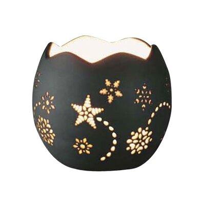 DonnieAnn Company Snowflake Shaped Porcelain Tealight Holder