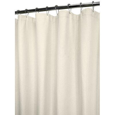 Garin 100% Cotton Ultra Spa Shower Curtain Color: Natural