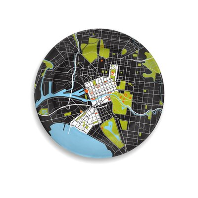 """notNeutral City on a Plate 12"""" Melbourne Dinner Plate"""