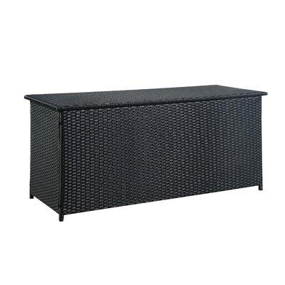 Blaker 134 Gallon Wicker Deck Box Color: Black Multi
