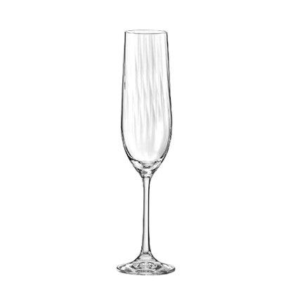Ella Sabatini Waterfall 190ml Champagne Flute Glass