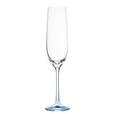 Ella Sabatini 6 Piece Rainbow 0.19L Champagne Flute Set