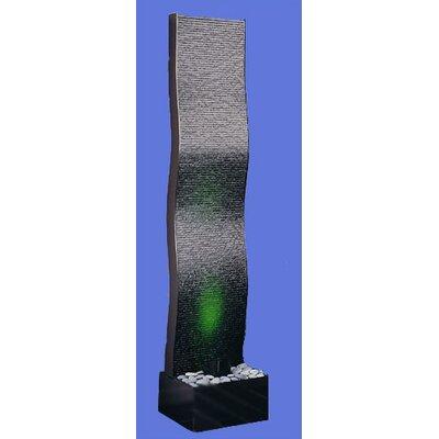 Acrylic Aqua Fall Wave Floor Fountain Finish: Black