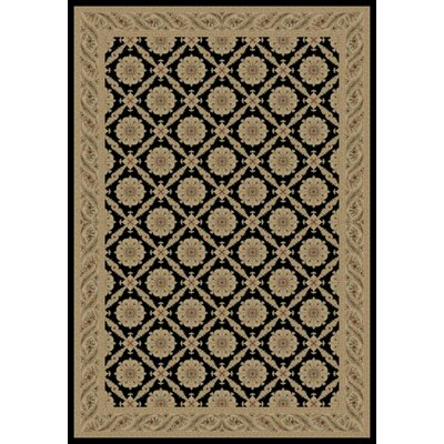 Concord Global Imports Imperial Black Charlemagne Aubusson Area Rug