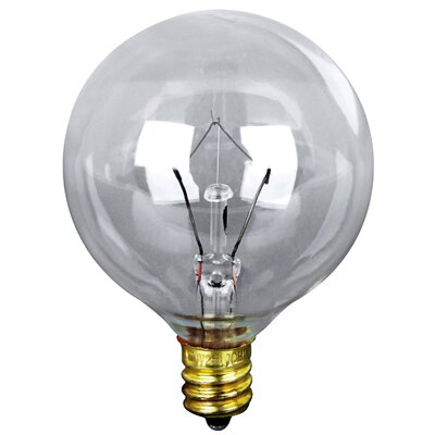 120-Volt Incandescent Light Bulb (Pack of 2) Glass Color: Clear, Wattage: 60W