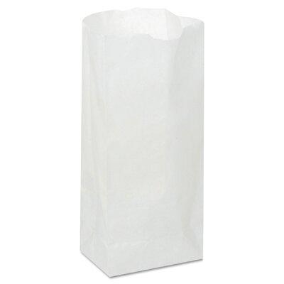 "General 4.17"" Paper Bag in White (500/Bundle)"