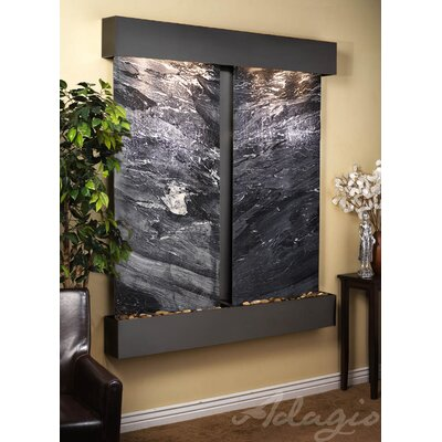 Cottonwood Falls Natural Stone/Metal Wall Fountain Finish: Blackened Copper, Stone: Black Spider Marble