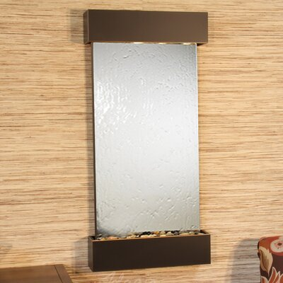 Whispering Creek Natural Stone/Metal Wall Fountain Finish: Blackened Copper, Stone: Silver Mirror