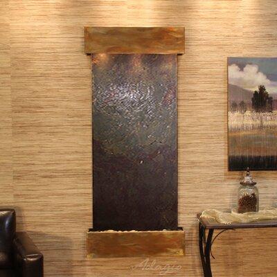 Inspiration Falls Natural Stone/Metal Wall Fountain Finish: Rustic Copper, Stone: Multi-Color Slate