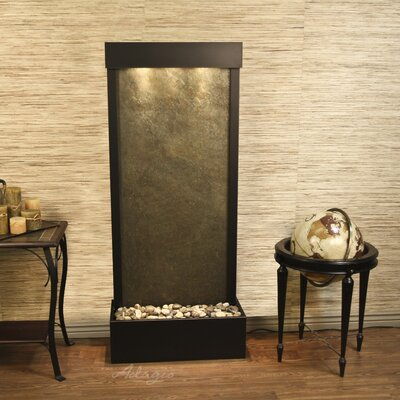 Harmony River Natural Stone/Metal Wall Fountain Finish: Antique Bronze, Stone: Green Feather