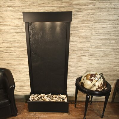 Harmony River Natural Stone/Metal Wall Fountain Finish: Antique Bronze, Stone: Black Feather