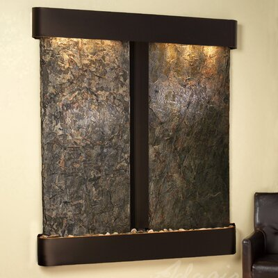 Cottonwood Falls Natural Stone/Metal Wall Fountain Finish: Blackened Copper, Stone: Green Slate