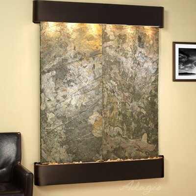 Majestic River Wall Fountain Finish: Blackened Copper, Stone: Rainforest Brown Marble