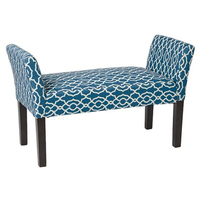 Finlayson Upholstered Bench Color: Cerulean