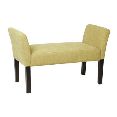 Millerstown Upholstered Bench Color: Basil