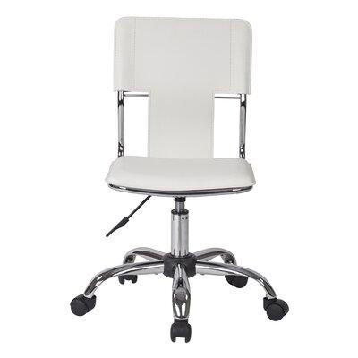 Mid-Back Desk Chair Color: White