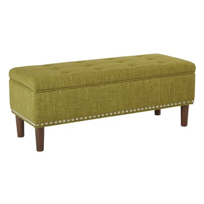 Bryant Upholstered Storage Bench Upholstery: Green