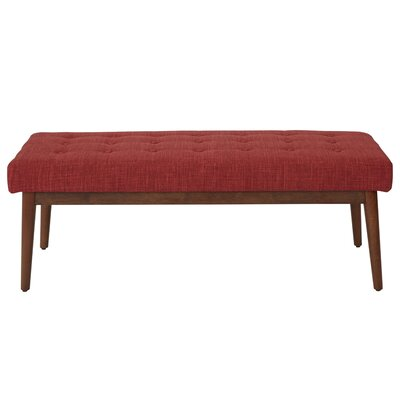 Valera Button Tufted Upholstered Bench Upholstery: Berry