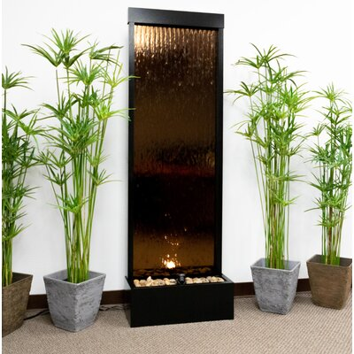 Metal Mirror Fountain with Light Color: Bronze