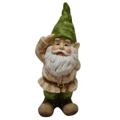 Alpine Gnome Saluting Statue